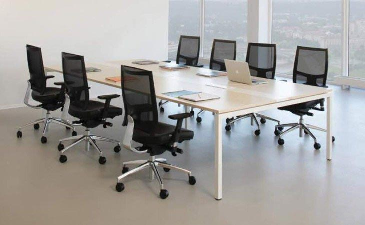 Rectangular Conference Table Metal U-Leg - TCT Office Chair Malaysia