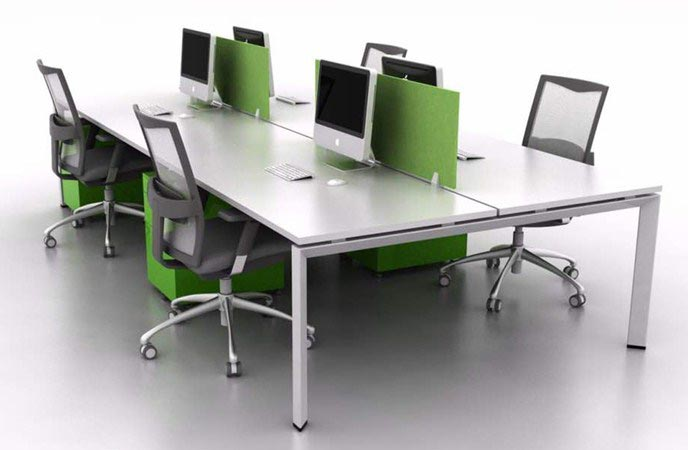4 Pax Office Workstation - TCT Office Chair Malaysia